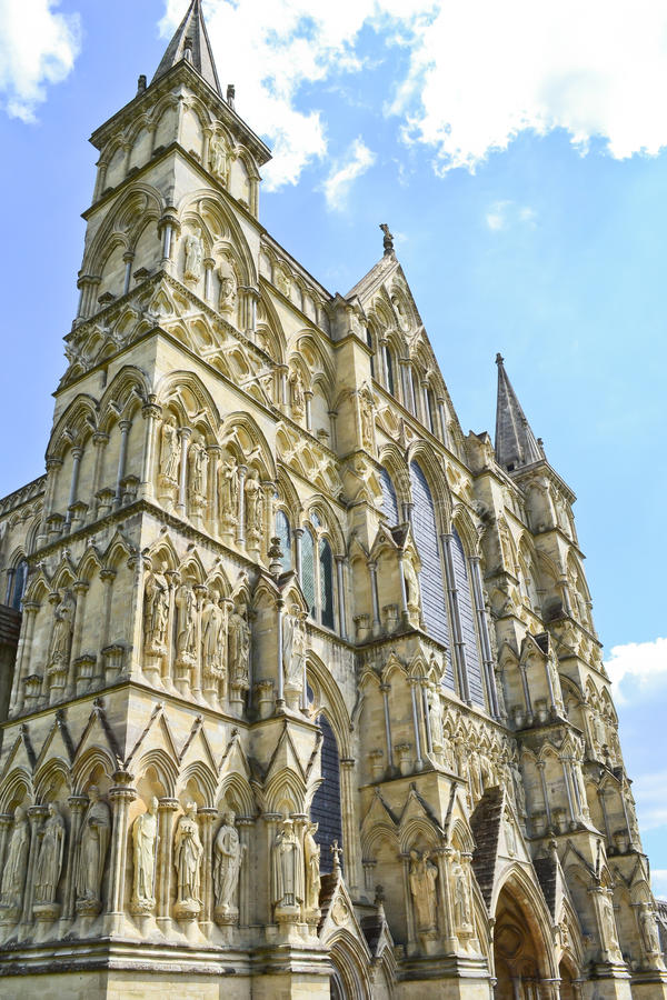 Salisbury-Kathedrale lizenzfreies stockfoto