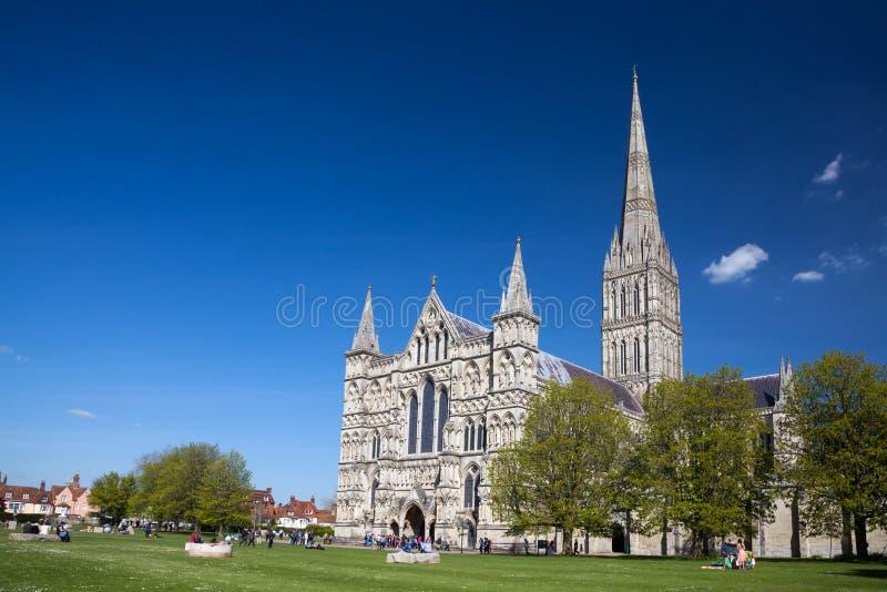 Salisbury-Kathedrale Wiltshire England Großbritannien lizenzfreie stockfotos