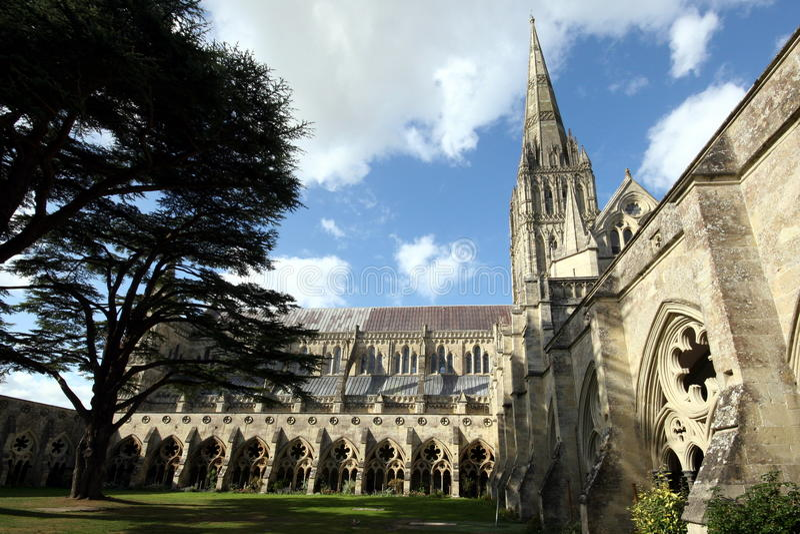 Salisbury, la cattedrale fotografia stock