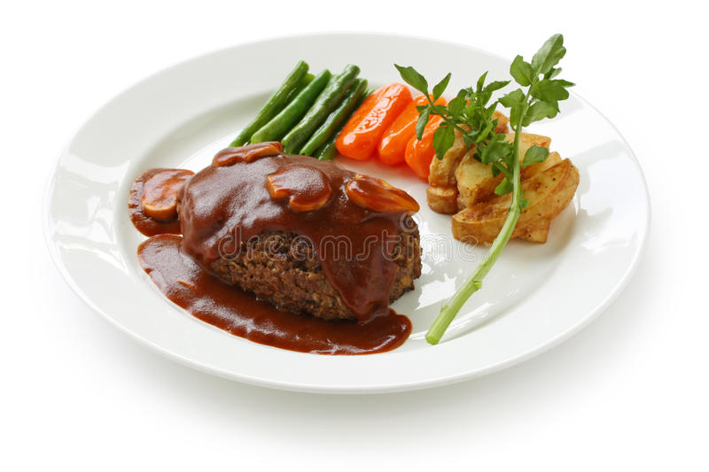 salisbury steak arkivbilder