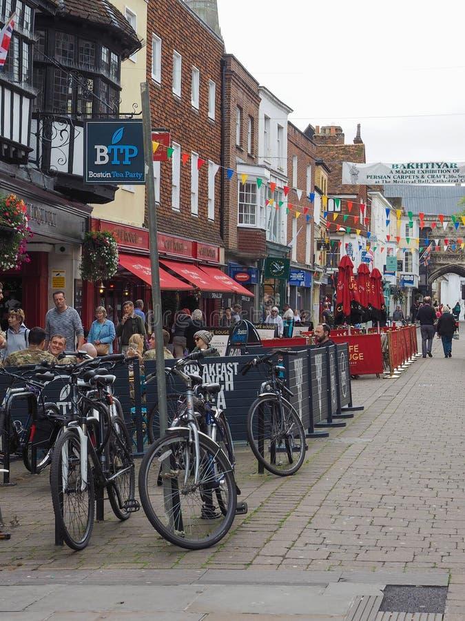 View of the city of Salisbury. SALISBURY, UK - CIRCA SEPTEMBER 2016: View of the city of Salisbury royalty free stock photography