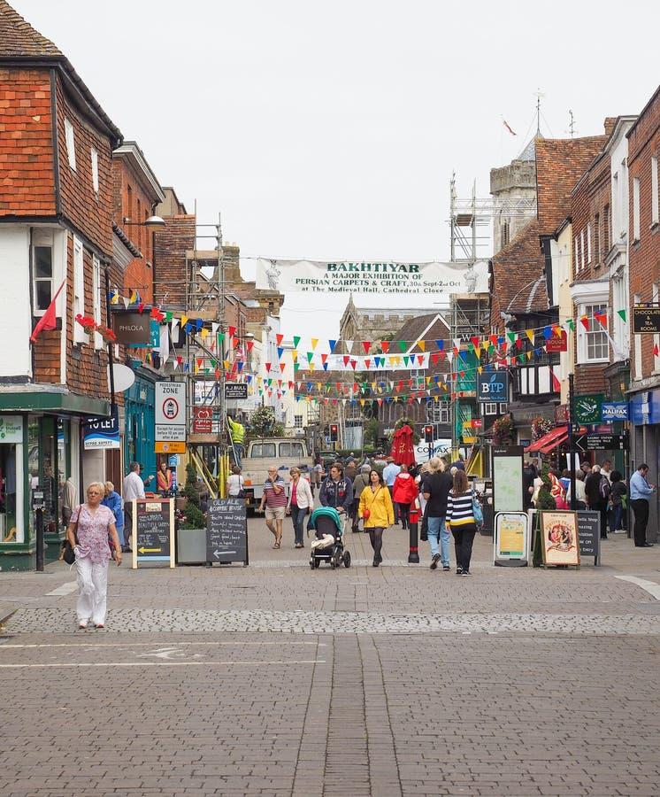 View of the city of Salisbury. SALISBURY, UK - CIRCA SEPTEMBER 2016: View of the city of Salisbury stock photography