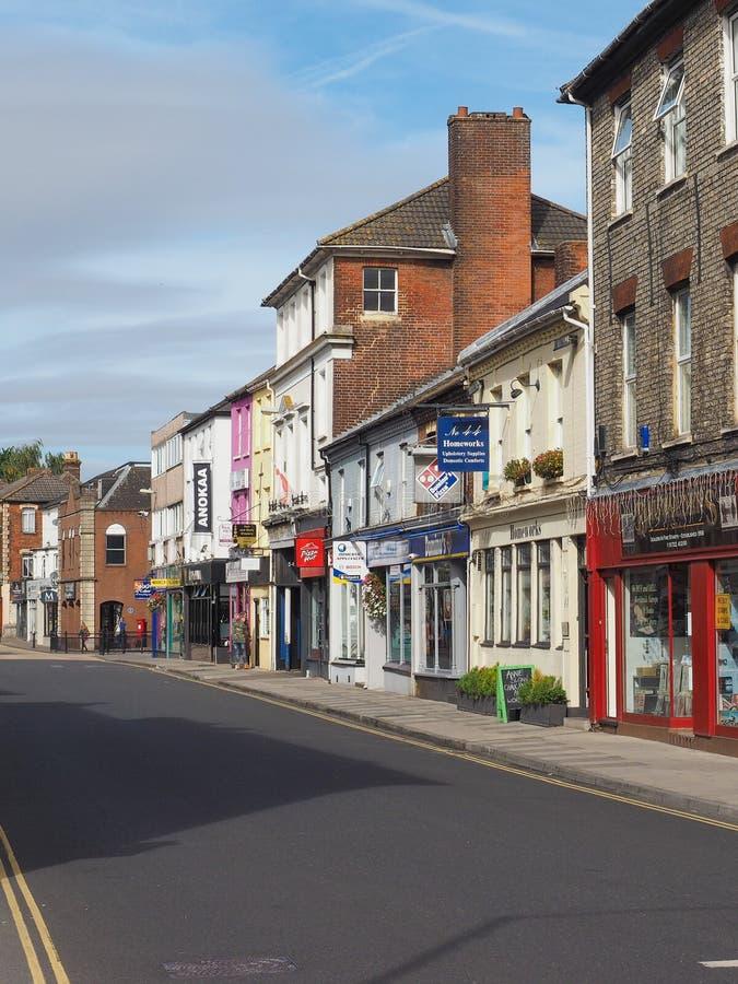 View of the city of Salisbury. SALISBURY, UK - CIRCA SEPTEMBER 2016: View of the city of Salisbury royalty free stock photos