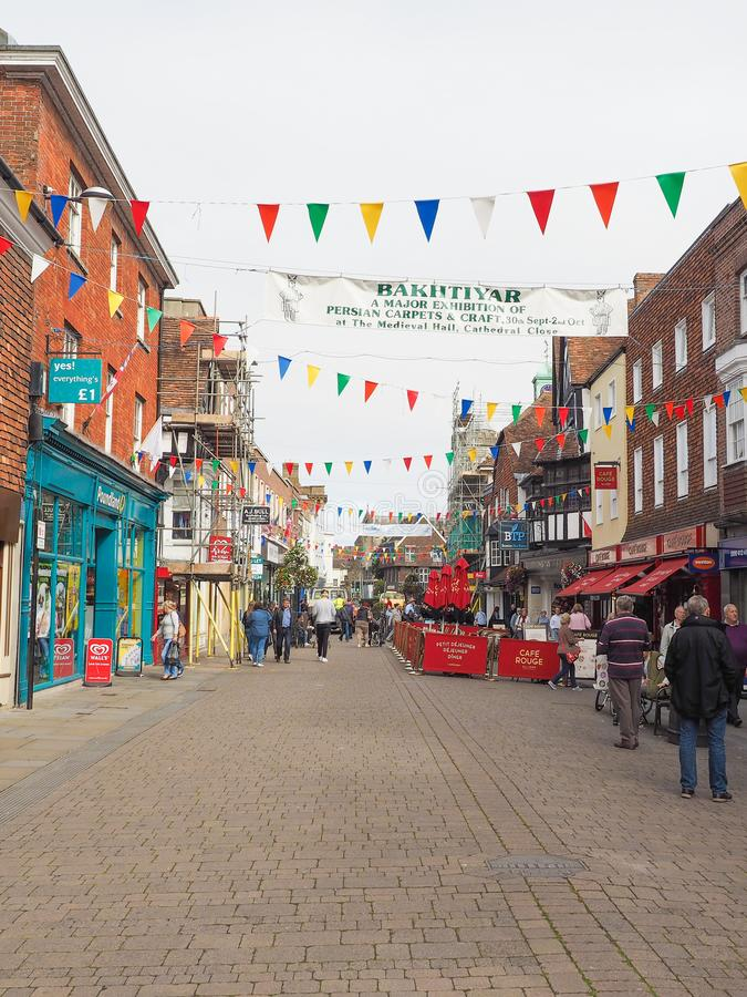View of the city of Salisbury. SALISBURY, UK - CIRCA SEPTEMBER 2016: View of the city of Salisbury stock photo