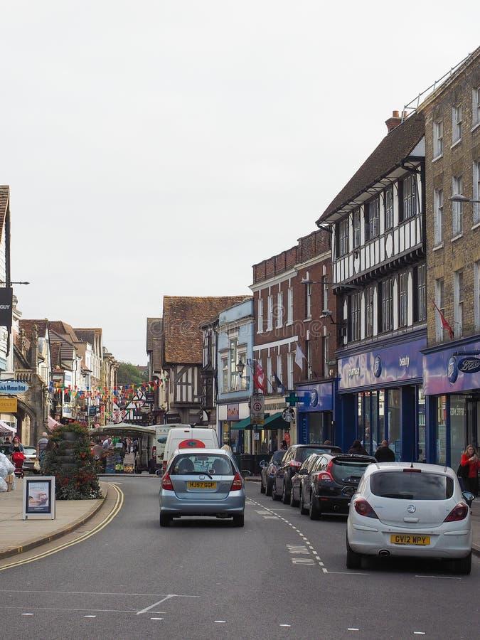 View of the city of Salisbury. SALISBURY, UK - CIRCA SEPTEMBER 2016: View of the city of Salisbury stock photos