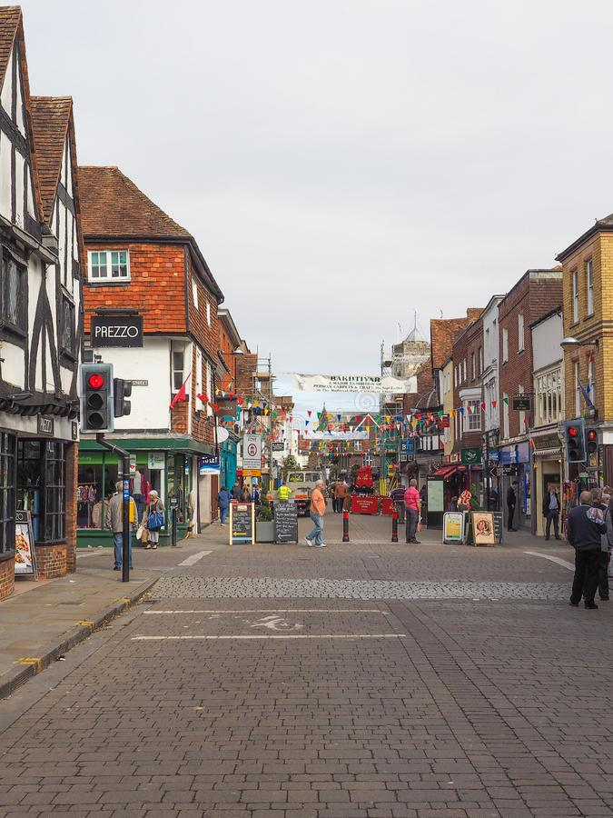 View of the city of Salisbury. SALISBURY, UK - CIRCA SEPTEMBER 2016: View of the city of Salisbury stock image