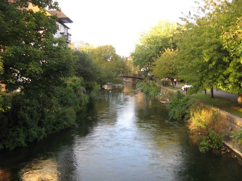 Salisbury, UK. River, taken in fall, 2012 stock photo