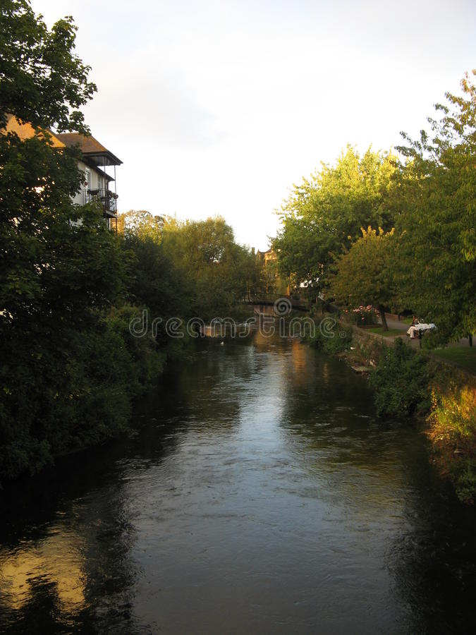 Salisbury, UK. River, taken in fall, 2012 stock photography