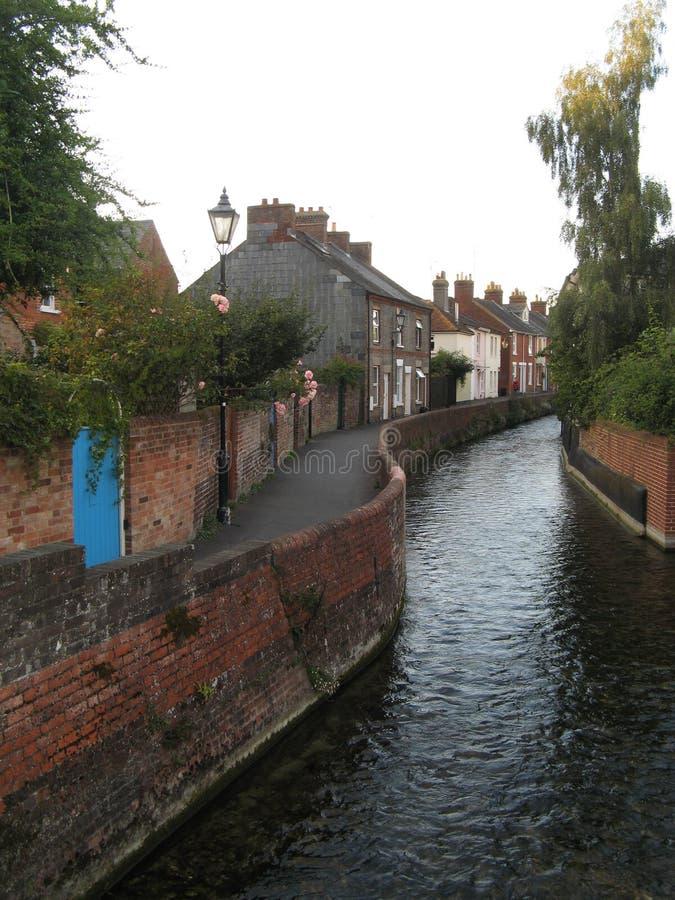 Salisbury, UK. River, taken in fall, 2012 stock images