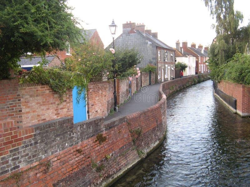 Salisbury, UK. River, taken in fall, 2012 royalty free stock image