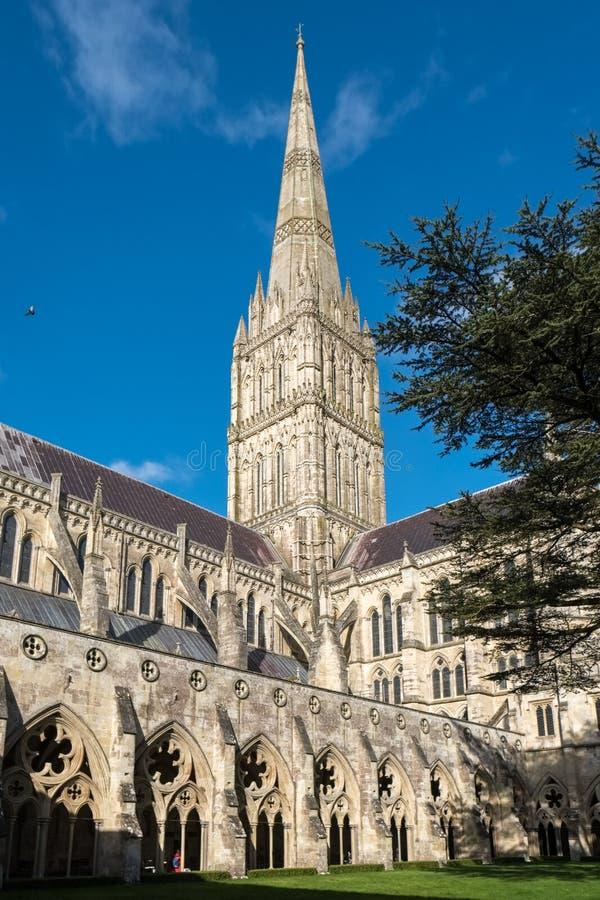 SALISBURY, WILTSHIRE/UK - 21 MAART: Buitenmening van Salisbury royalty-vrije stock afbeeldingen