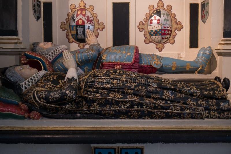 SALISBURY, WILTSHIRE/UK - 21 MAART: Geschilderd Graf van Sir Richard royalty-vrije stock afbeelding