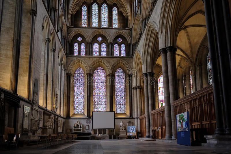 SALISBURY WILTSHIRE/UK - MARS 21: Inre sikt av Salisbury fotografering för bildbyråer