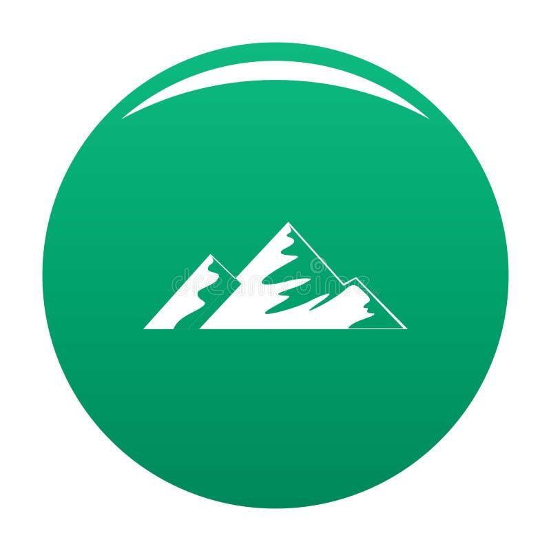 Salita su verde di vettore dell'icona della montagna royalty illustrazione gratis