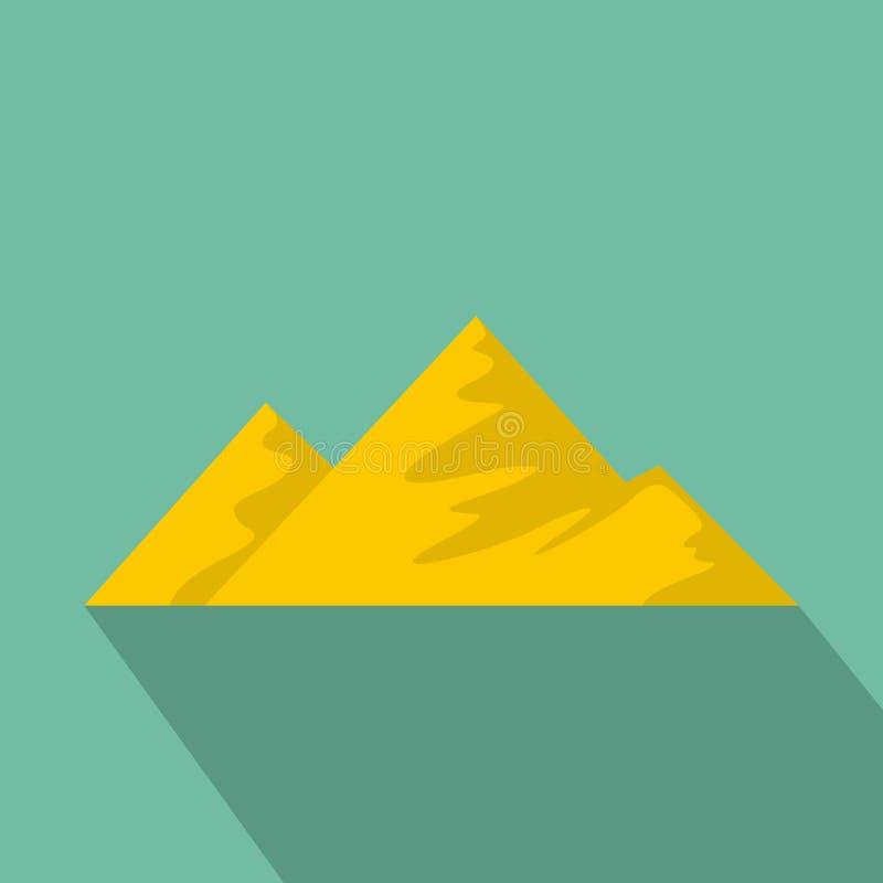 Salita sull'icona della montagna, stile piano royalty illustrazione gratis