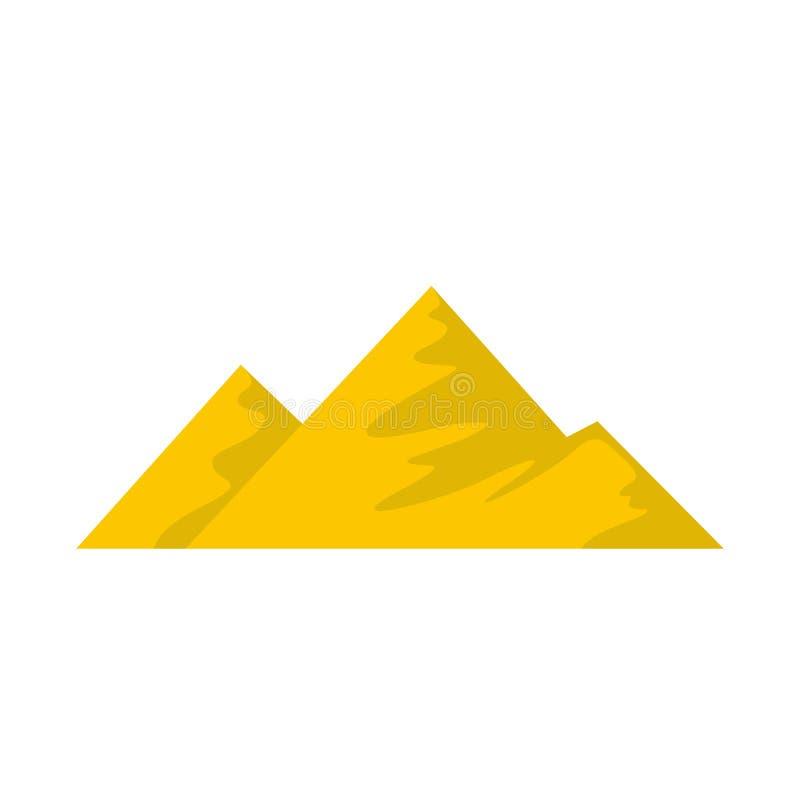 Salita sull'icona della montagna, stile piano illustrazione di stock