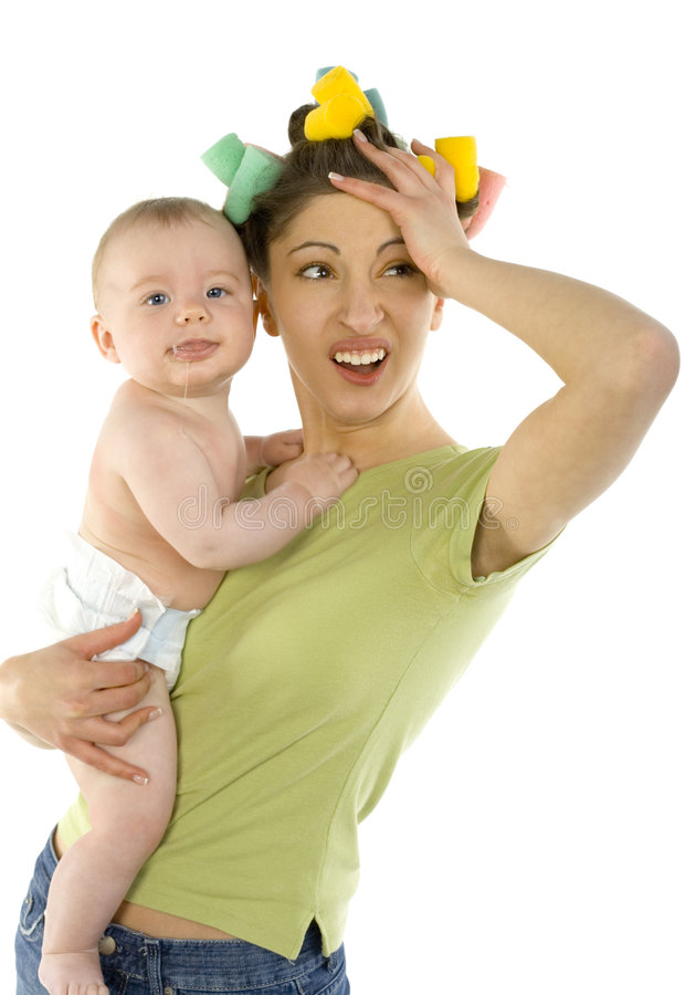 Salivating baby royalty free stock images