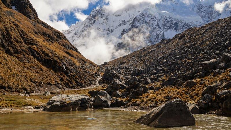Salkantay ślad w Peru obrazy royalty free
