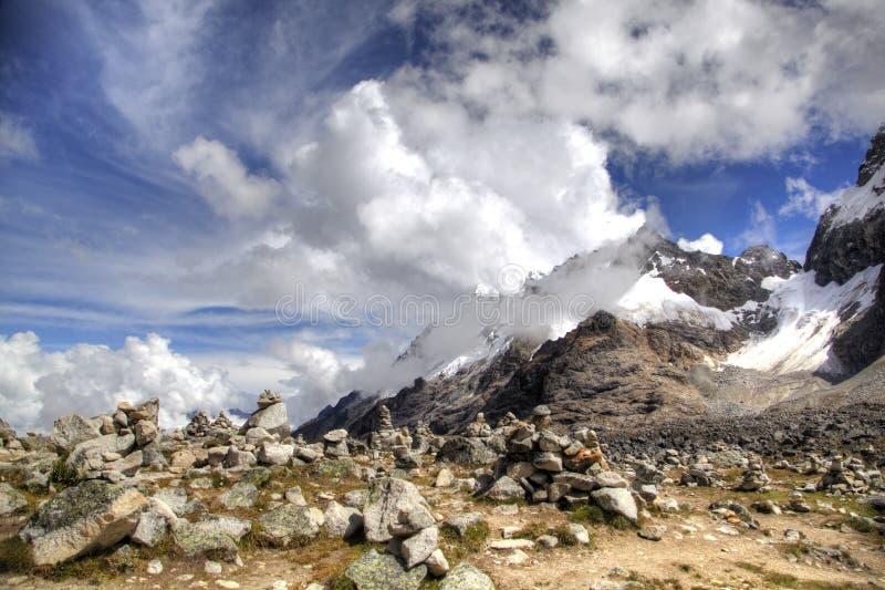 Salkantay berg royaltyfri foto