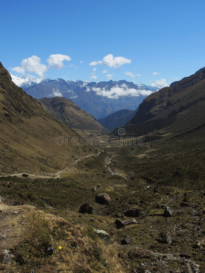 Download Salkantay Inca Trail Dans Cusco, Pérou Photo stock - Image du frein, extrême: 77156782