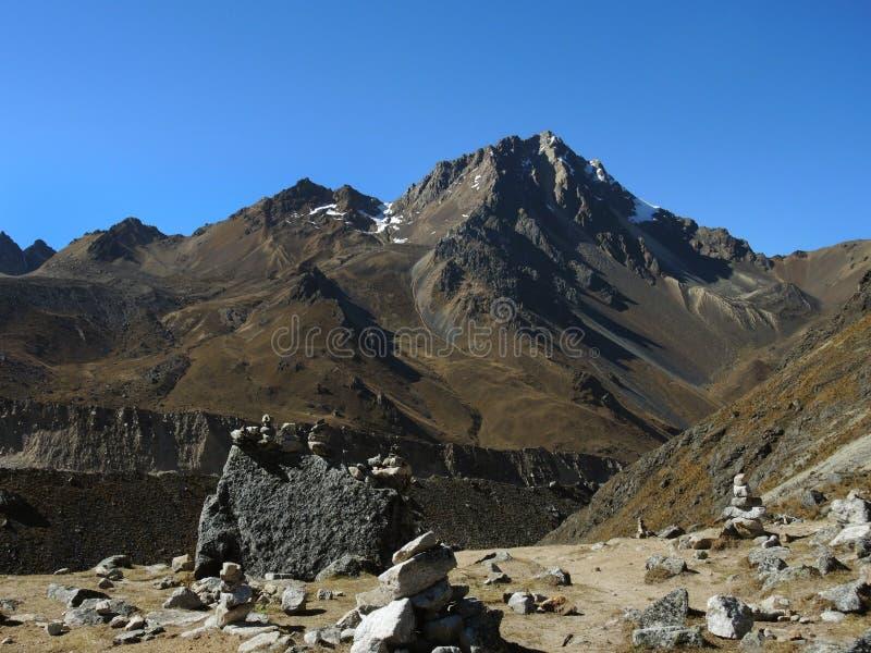 Salkantay Inca Trail em Cusco, Peru imagem de stock