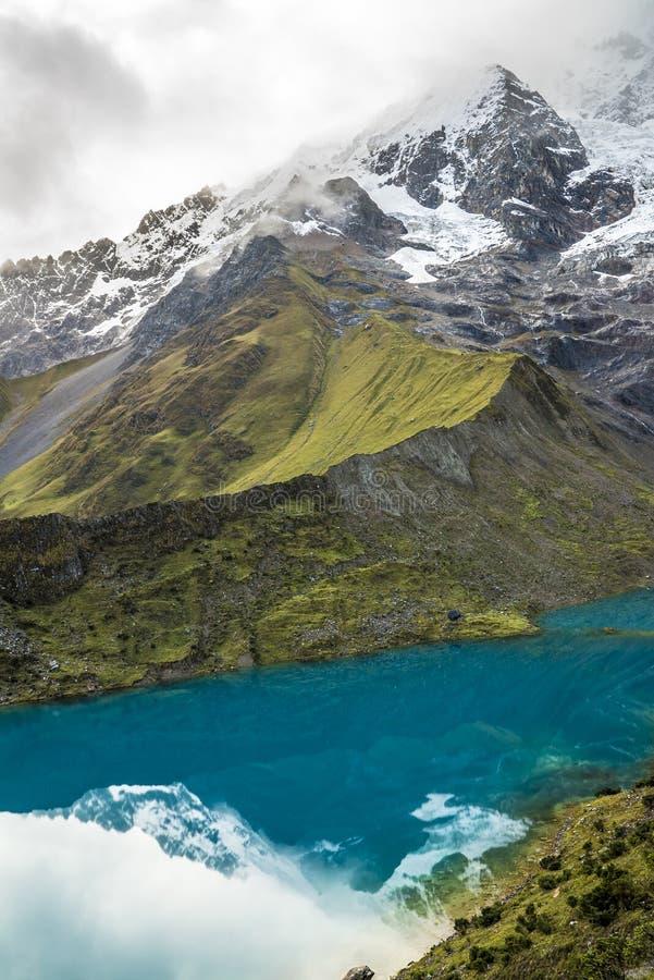 Salkantay som Trekking Peru arkivfoto