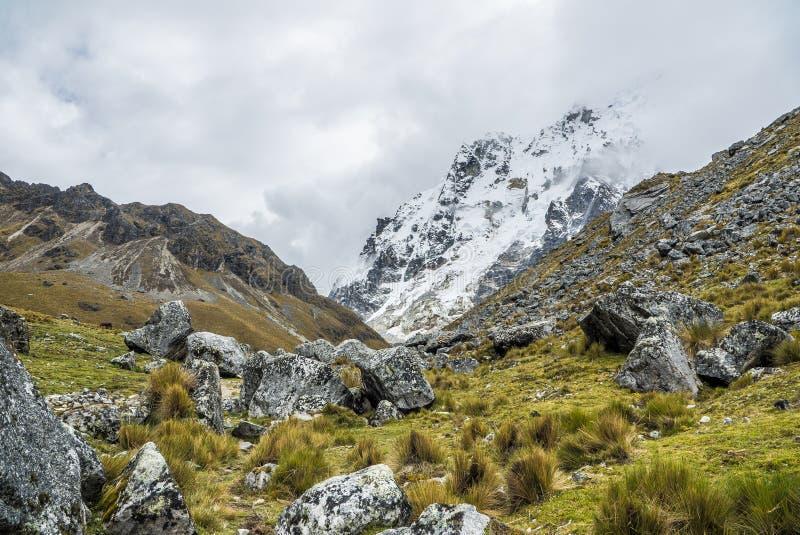 Salkantay som Trekking Peru arkivbilder
