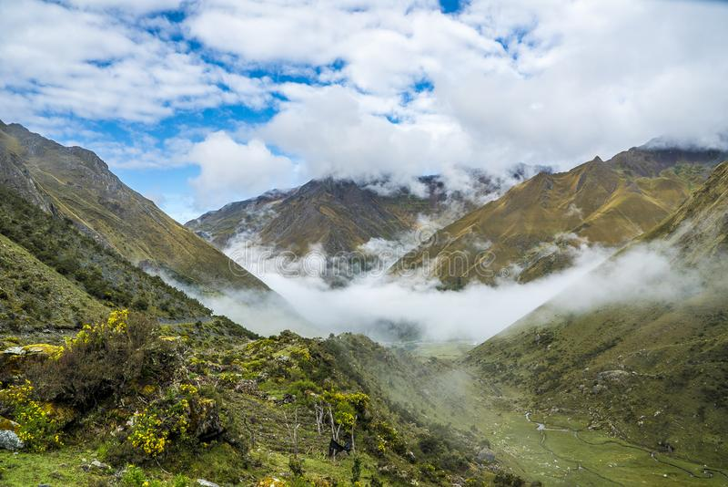Salkantay Trekking Peru fotografia stock