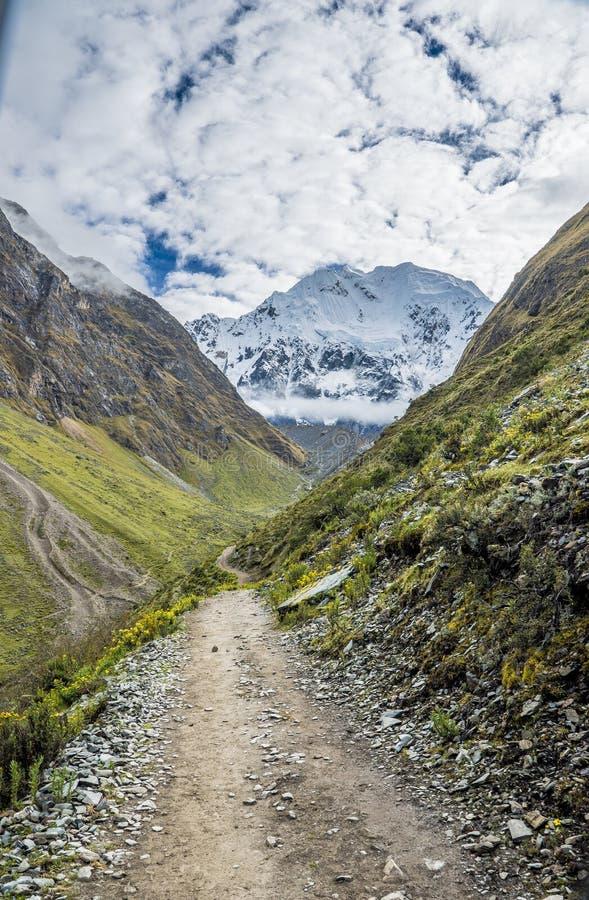 Salkantay-Trekking Peru stockbilder