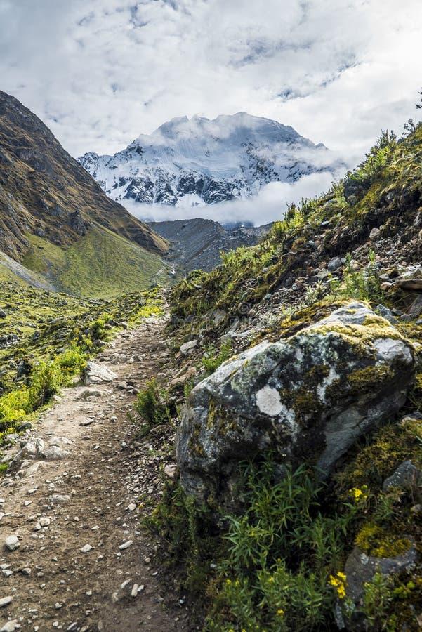 Salkantay Trekking Peru obraz stock