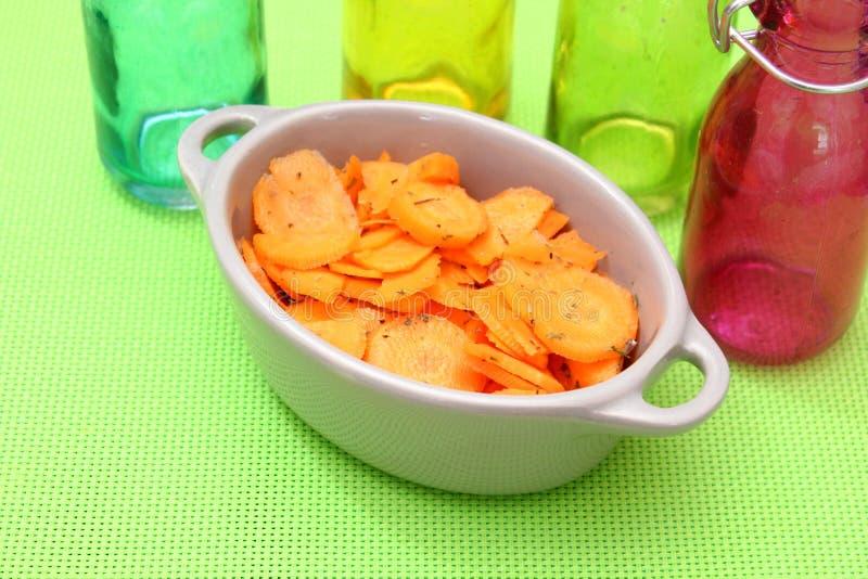 Sallad av morötter arkivfoton