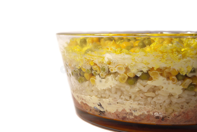 sallad för rice för havrefndärtor arkivbilder