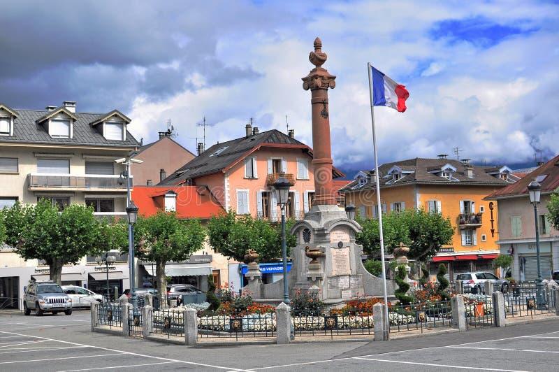 Sallanches, Frankreich stockbild