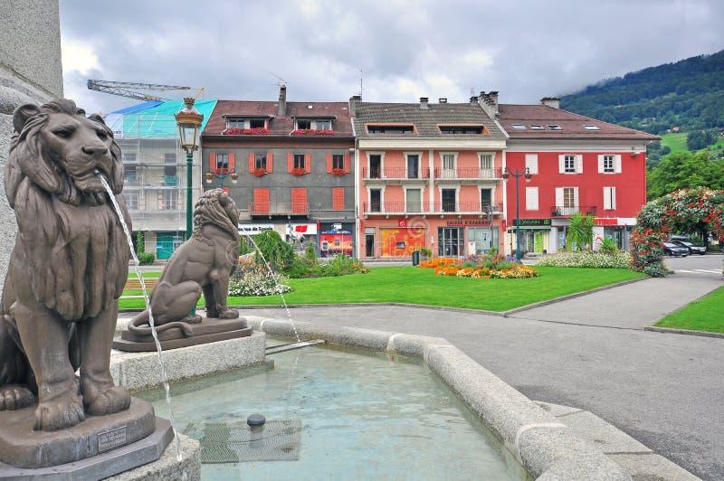 Sallanches, Frankrijk stock afbeelding