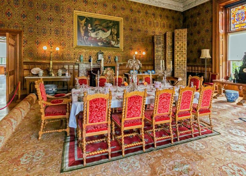 Salle à manger, Chambre de Charlecote, le Warwickshire, Angleterre photographie stock libre de droits