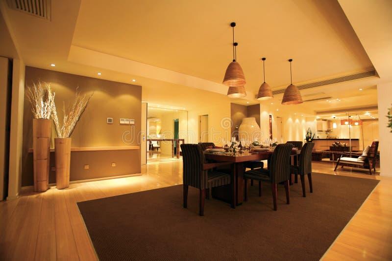 Salle à manger de luxe photographie stock