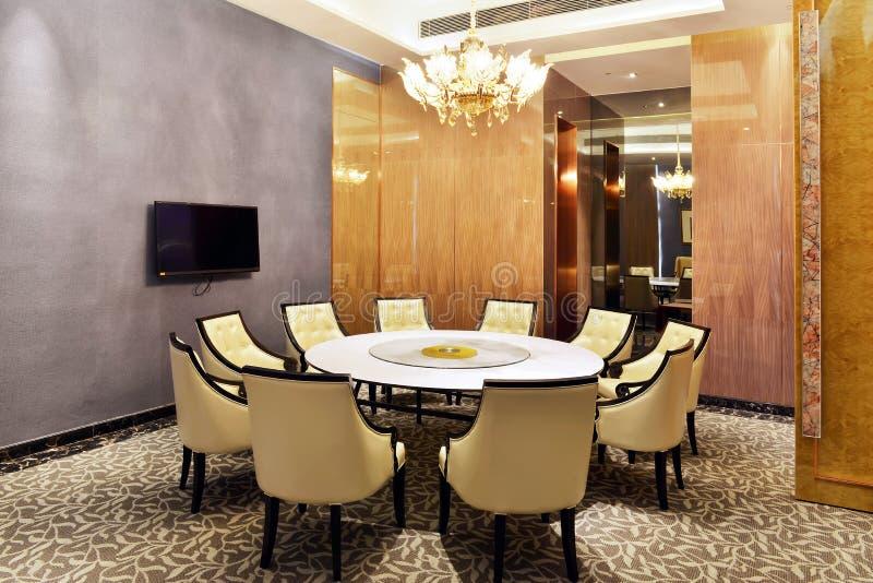 Salle à manger de restaurant d'hôtel photo stock