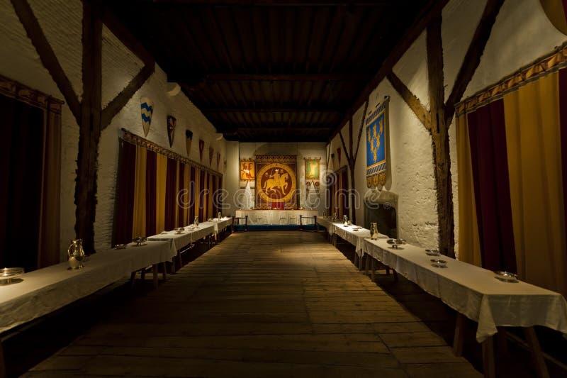 Salle à manger de rois de château de Douvres photo stock