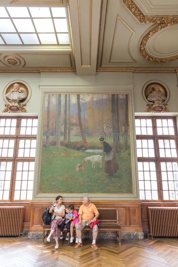 Salle Capitole的de Toulose亨利马丁 免版税库存照片