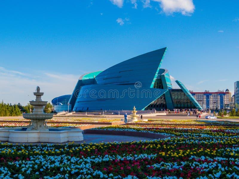 Salle centrale de concert du Kazakhstan à Nur-Sultan, Kazakhstan image libre de droits