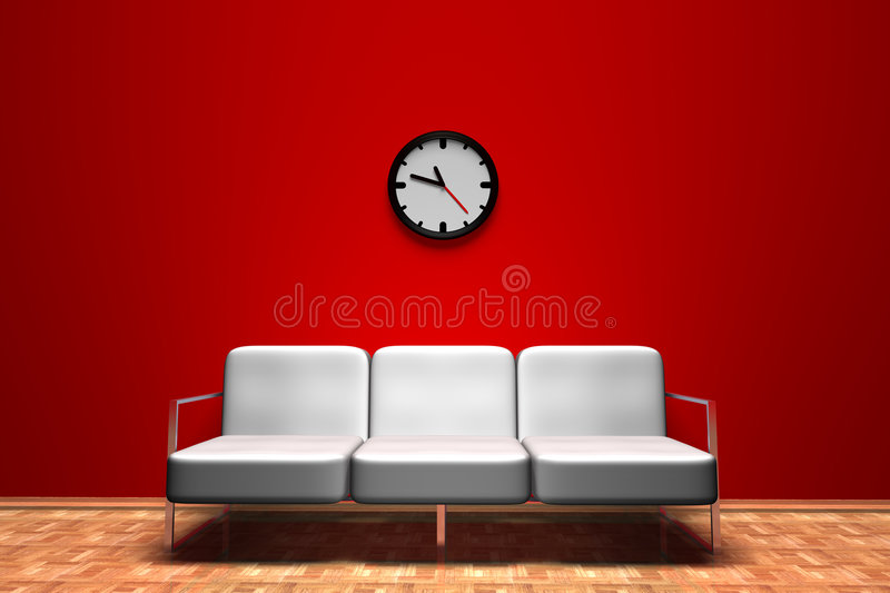 Download Salle d'attente illustration stock. Illustration du étage - 8672289