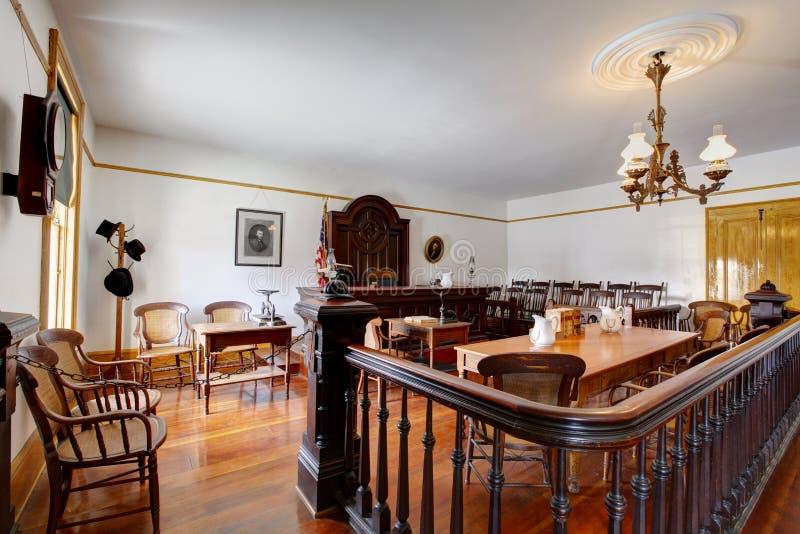 Salle d'audience dans le musée de Chambre de Whaley, vieille ville de San Diego photos stock