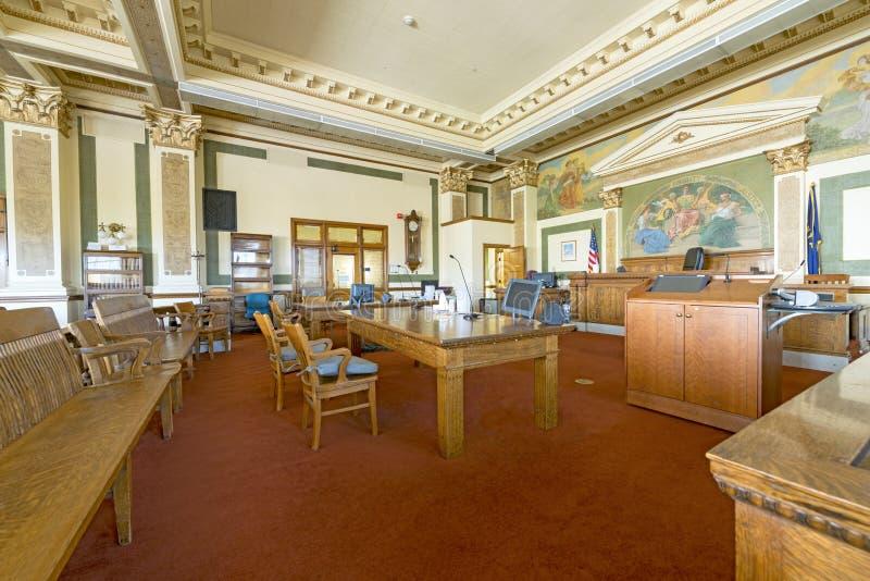 Salle d'audience de tribunal du comté dans Missoula Montana image stock