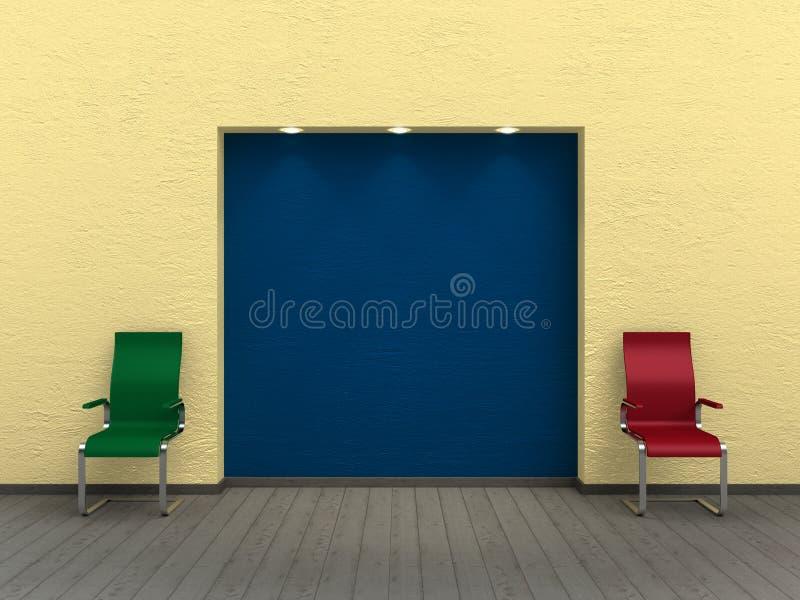 Salle d'exposition illustration stock