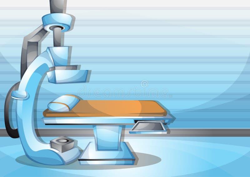 Salle d'opération intérieure de chirurgie d'illustration de vecteur de bande dessinée avec des couches séparées illustration libre de droits
