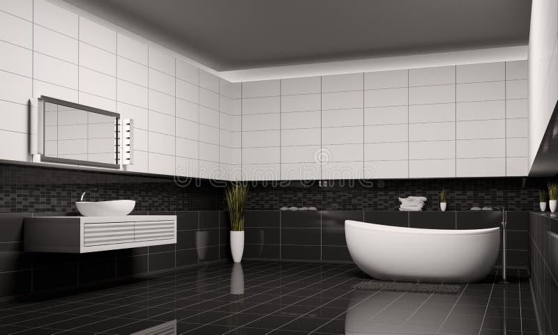 Salle de bains 3d intérieur illustration de vecteur