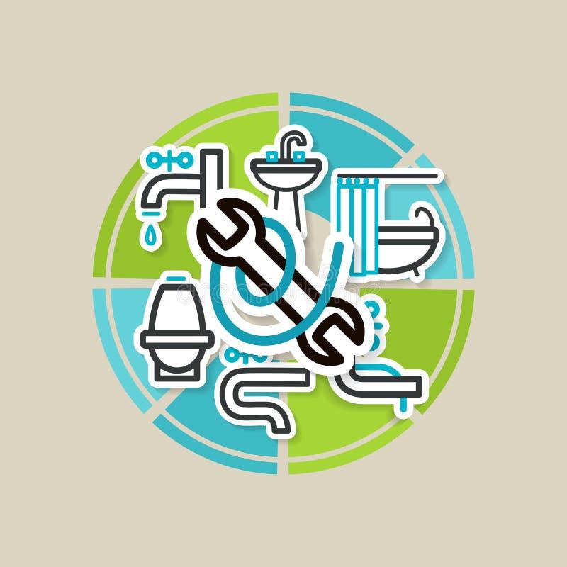 Download Salle de bains illustration de vecteur. Illustration du bouton - 45370950