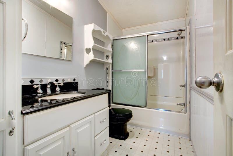 salle de bains blanche et noire image stock image du conception glace 39022639. Black Bedroom Furniture Sets. Home Design Ideas