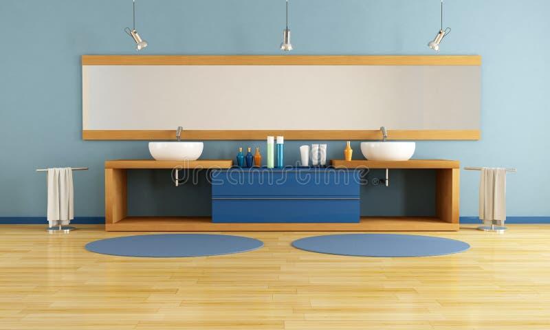 salle de bains bleue illustration stock illustration du bain 17953067. Black Bedroom Furniture Sets. Home Design Ideas