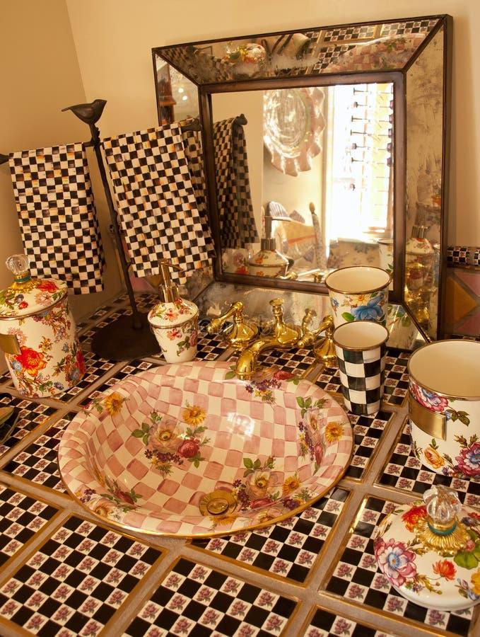 Salle de bains décorative image libre de droits